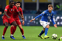Nicolo Barella of Italy in action during the Nations League League A group 3 football match between Italy and Portugal at stadio Giuseppe Meazza, Milano, November, 17, 2018 <br /> Foto Andrea Staccioli / Insidefoto