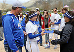 Kristina George at the Sophomore Day celebration after the first game of the Western Nevada College softball doubleheader on Saturday, April 30, 2016 at Pete Livermore Sports Complex. Photo by Shannon Litz/Nevada Photo Source