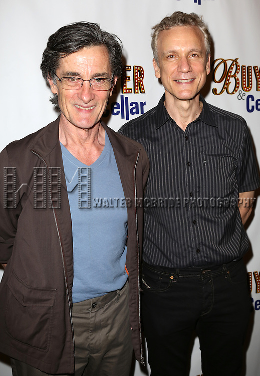 Roger Rees, Rick Elice attends the opening night for 'Buyer & Cellar' at the Barrow Street Theatre on June 24, 2013 in New York City.