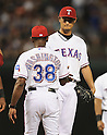 Yu Darvish (Rangers),<br /> AUGUST 30, 2013 - MLB :<br /> Yu Darvish of the Texas Rangers is pulled by manager Ron Washington in the seventh inning during the Major League Baseball game against the Minnesota Twins at Rangers Ballpark in Arlington in Arlington, Texas, United States. (Photo by AFLO)