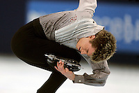 November 19, 2005; Paris, France; Figure skating star JEFFREY BUTTLE of Canada skates to gold at Trophee Eric Bompard, ISU Paris Grand Prix competition.  Buttle is one of the favorites in mens leading up to Torino 2006 Olympics.<br />Mandatory Credit: Tom Theobald/<br />Copyright 2005 Tom Theobald