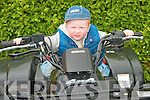 Little Oile?ann Walsh, from Castleisland tries out a Quad bike for size at Knockanure Vintage Day on Sunday..   Copyright Kerry's Eye 2008