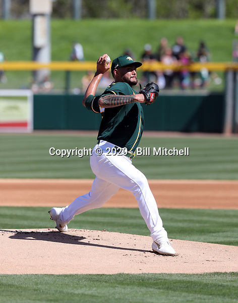 Sean Manaea - Oakland Athletics 2020 spring training (Bill Mitchell)