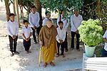 Preah-Ong Pien Sian & Students At Wat Bo