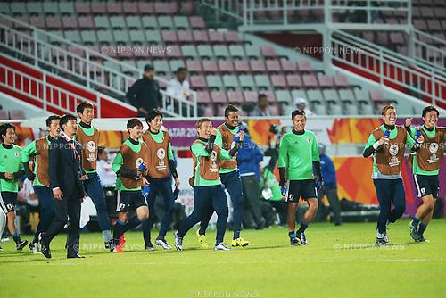 U-23U-23 Japan team group (JPN), <br /> JANUARY 22, 2016 - Football / Soccer : <br /> AFC U23 Championship Qatar 2016 <br /> Quarter-final match between <br /> Japan 3-0 Iran <br /> at Abdullah Bin Khalifa Stadium in Doha, Qatar. <br /> (Photo by Yohei Osada/AFLO SPORT)