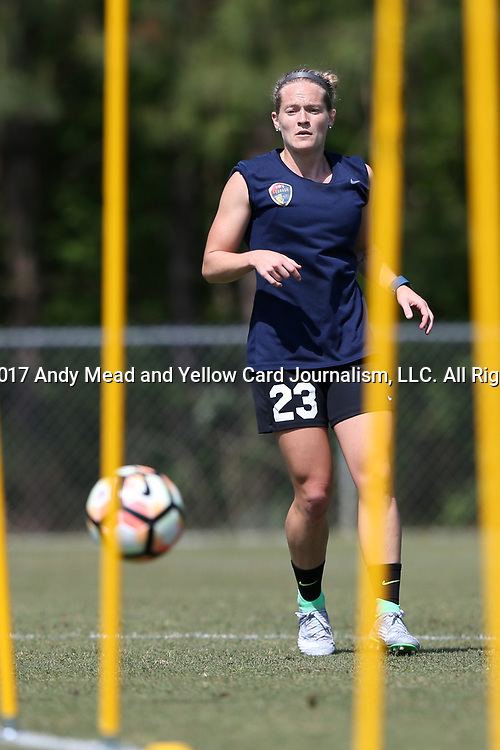 CARY, NC - APRIL 20: Kristen Hamilton. The North Carolina Courage held a training session on April 20, 2017, at WakeMed Soccer Park Field 7 in Cary, NC.
