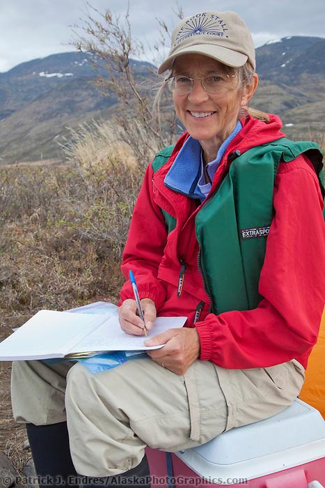 Alaskan author Debbie Miller, Gates of the Arctic National Park, Alaska.