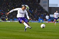 Kayne Ramsay of Shrewsbury Town has a shot on goal during Portsmouth vs Shrewsbury Town, Sky Bet EFL League 1 Football at Fratton Park on 15th February 2020