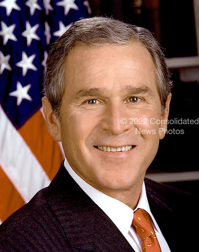 Official Portrait of the 43rd President of the United States George Walker Bush taken at the White House in Washington, D.C. on January 20, 2001.