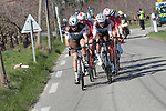 The breakaway during Stage 6 of the 78th edition of Paris-Nice 2020, running 161.5km from Sorgues to Apt, France. 13th March 2020.<br /> Picture: ASO/Fabien Boukla | Cyclefile<br /> All photos usage must carry mandatory copyright credit (© Cyclefile | ASO/Fabien Boukla)