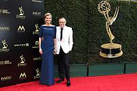 PASADENA - APR 29: Shawn King, Larry King at the 45th Daytime Emmy Awards Gala at the Pasadena Civic Center on April 29, 2018 in Pasadena, California