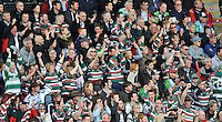 Twickenham, England. Tiger supporters during the Aviva Premiership game between Harlequins and Leicester Tigers at Twickenham Stoop, London, England. 21 April 2012.