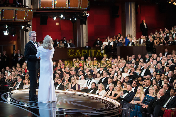 Warren Beatty and Faye Dunaway present during the live ABC Telecast of The 89th Oscars&reg; at the Dolby&reg; Theatre in Hollywood, CA on Sunday, February 26, 2017.<br /> *Editorial Use Only*<br /> CAP/PLF/AMPAS<br /> Supplied by Capital Pictures
