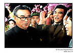 "NR00768 / Propaganda portrait of Kim Il Sung, congratulating the artistes on their succesful performance of the song and dance tale ""Song of Paradice"" and used for the annual anniversary of his birth 15 April. Although he deceased in 1994, he remains the President for Life of North Korea. This year North Koreans will celebrate the 10th anniversary of his death...Portrait de Kim Il Sung, felicitant les artistes pour leur spectacle ""Chanson du Paradis"", utilise par la propagande pour la celebration annuelle de son anniversaire. Bien qu'il soit decede en 1994, il demeure le President a Vie de la Coree du Nord. Cette annee, les Nord-Coreens celebrerons le 10eme anniversaire de sa mort...Pyongyang, Coree du Nord, archives nord-coreennes...©Nicolas Righetti/Rezo"