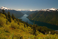 View from Desolation Peak Trail, North Cascades National Park, Washington, US