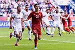 Phan Van Duc of Vietnam (C) reacts during the AFC Asian Cup UAE 2019 Round of 16 match between Jordan (JOR) and Vietnam (VIE) at Al Maktoum Stadium on 20 January 2019 in Dubai, United Arab Emirates. Photo by Marcio Rodrigo Machado / Power Sport Images