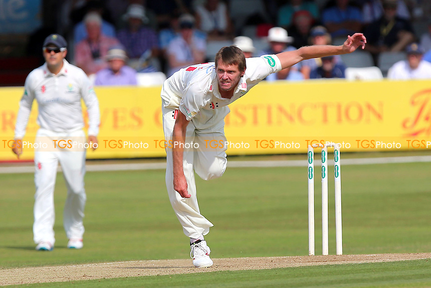 Michael Hogan in bowling action for Glamorgan during Essex CCC vs Glamorgan CCC, Specsavers County Championship Division 2 Cricket at the Essex County Ground on 13th September 2016