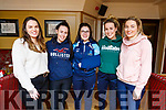 5 members of the IT Tralee Camagie team enjoying the night out in the Brogue Inn on Friday night. <br /> L to r: Jane McGrath, Tara Murphy, Sinead O&rsquo;Hagan, Blana Bradley and Deirdre Cashen.