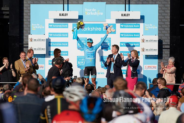 Picture by Shaun Flannery/SWpix.com - 04/05/2018 - Cycling - 2018 Tour de Yorkshire - Stage 2: Barnsley to Ilkley - Yorkshire, England -<br /> <br /> Astana's Magnus Cort takes the victory on Stage 2