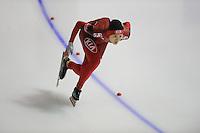 SCHAATSEN: Calgary: Essent ISU World Sprint Speedskating Championships, 28-01-2012, 1000m Dames, Beixing Wang (CHN), ©foto Martin de Jong