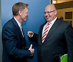 Brussels - Belgium, June 07, 2012 -- Janez POTOCNIK (Poto?nik) (le), European Commissioner in charge of Environment, receives Peter ALTMAIER (ri), Federal Minister for the Environment, Nature Conservation and Nuclear Safety of Germany -- Photo: © Horst Wagner;  +32 486 966 116; horst.wagner@skynet.be