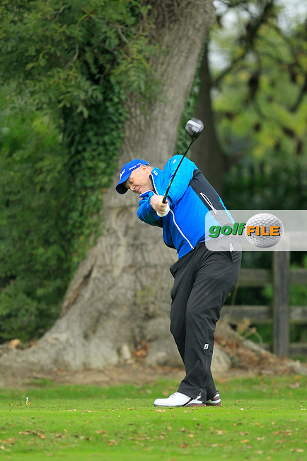 David Mortimer (Galway G.C) on the 1st during Round 3 of The Cassidy Golf 103rd Irish PGA Championship in Roganstown Golf Club on Saturday 12th October 2013.<br /> Picture:  Thos Caffrey / www.golffile.ie