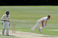 Matt Dixon in bowling action during Essex CCC 2nd XI vs Surrey CCC 2nd XI, Second XI Championship Cricket at Billericay Cricket Club on 16th May 2017