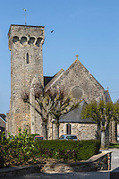 Europe/France/Normandie/Basse-Normandie/50/Manche/Barneville-Carteret : Église Saint-Germain-d'Auxerre de Barneville // Europe/France/Normandie/Basse-Normandie/50/Manche/Barneville-Carteret:  Port of Carteret: Church   aint-Germain-d'Auxerre