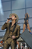 JANE'S ADDICTION - vocalist Perry Farrell - performing live on Day Three on the Encore Stage at Download Festival Donington Park UK - 12 Jun 2016.  Photo credit: Zaine :Lewis/IconicPix