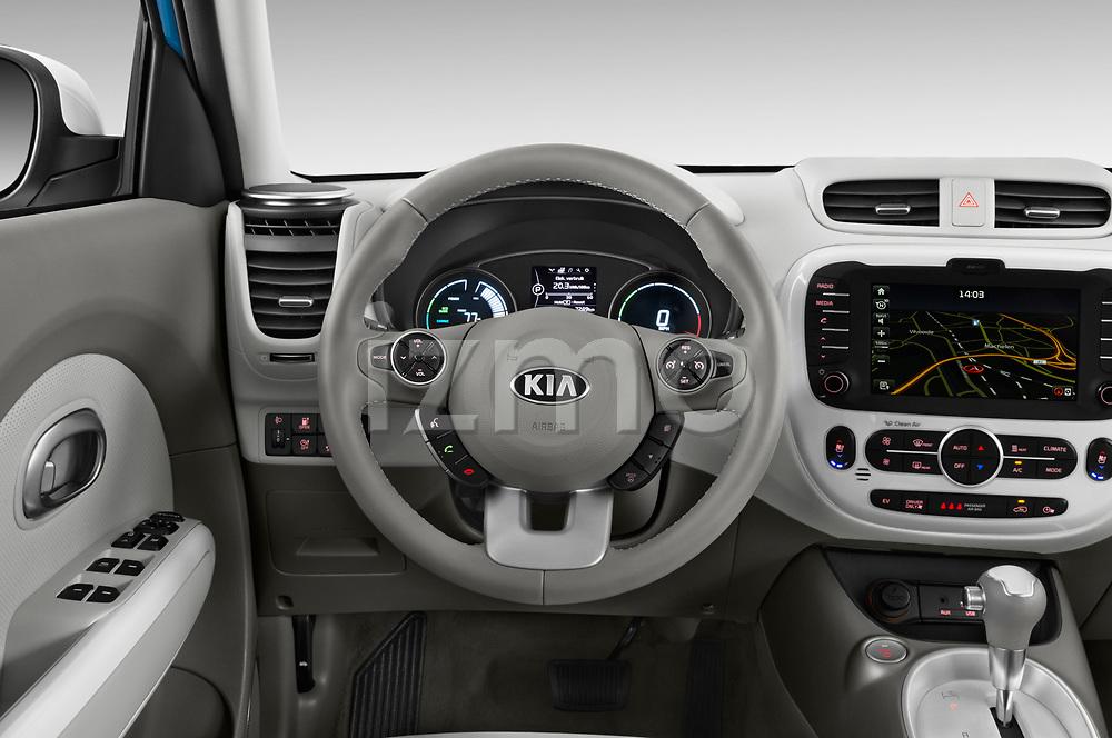 Car pictures of steering wheel view of a 2017 KIA Soul EV Base 5 Door Hatchback
