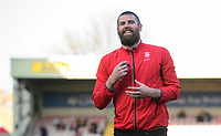 Lincoln City's Michael Bostwick during the pre-match warm-up<br /> <br /> Photographer Chris Vaughan/CameraSport<br /> <br /> The EFL Sky Bet League Two - Lincoln City v Stevenage - Saturday 16th February 2019 - Sincil Bank - Lincoln<br /> <br /> World Copyright © 2019 CameraSport. All rights reserved. 43 Linden Ave. Countesthorpe. Leicester. England. LE8 5PG - Tel: +44 (0) 116 277 4147 - admin@camerasport.com - www.camerasport.com