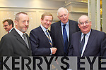 Sean Kelly MEP, Brian McCArthy Fexco and Paul Coughlan with An Taoiseach Enda Kenny pictured attending the Business briefing on the Stability Treaty in the Dromhall Hotel, Killarney, on Friday