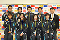 (Back L to R) Takeshi Matsuda (JPN), Ryosuke Irie (JPN), Kosuke Kitajima (JPN), Naoya Tomita (JPN), Norimasa Hirai (JPN), (Front L to R) Shiho Sakai (JPN), Aya Terakawa (JPN), Yuka Kato (JPN), Natusmi Hoshi (JPN), .APRIL 12, 2011 - Swimming : a press conference of announcement the members of Japan team for the 14th FINA World Championships Shanghai 2011 at Ajinomoto NTC, Tokyo, Japan. (Photo by YUTAKA/AFLO SPORT) [1040]
