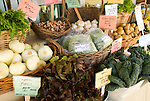 Organic produce at a market