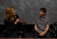 """Los Angeles - JANUARY 8: Laura Dern and Alex Honnold attend an IMAX screening of National Geographic's """"Free Solo"""" at the AMC Century City 15 on January 8, 2019 in Los Angeles, California. (Photo by Frank Micelotta/National Geographic/PictureGroup)"""