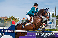 BRA-Luiz Felipe Azevedo Filho rides Chacito during the First Round of the CSIO Barcelona - Longines FEI Nations Cup Jumping Final. Reial Club de Polo de Barcelona. Spain. Thursday 3 October. Copyright Photo: Libby Law Photography