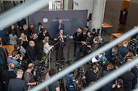 28. Sitzung des Abgas-Untersuchungsausschuss des Deutschen Bundestag am Mittwoch den 8. Maerz 2017.<br /> Als Zeugin war Bundeskanzlerin Angela Merkel geladen.<br /> Im Bild: Ausschussmitglieder geben Pressestatements.<br /> 16.2.2017, Berlin<br /> Copyright: Christian-Ditsch.de<br /> [Inhaltsveraendernde Manipulation des Fotos nur nach ausdruecklicher Genehmigung des Fotografen. Vereinbarungen ueber Abtretung von Persoenlichkeitsrechten/Model Release der abgebildeten Person/Personen liegen nicht vor. NO MODEL RELEASE! Nur fuer Redaktionelle Zwecke. Don't publish without copyright Christian-Ditsch.de, Veroeffentlichung nur mit Fotografennennung, sowie gegen Honorar, MwSt. und Beleg. Konto: I N G - D i B a, IBAN DE58500105175400192269, BIC INGDDEFFXXX, Kontakt: post@christian-ditsch.de<br /> Bei der Bearbeitung der Dateiinformationen darf die Urheberkennzeichnung in den EXIF- und  IPTC-Daten nicht entfernt werden, diese sind in digitalen Medien nach §95c UrhG rechtlich geschuetzt. Der Urhebervermerk wird gemaess §13 UrhG verlangt.]