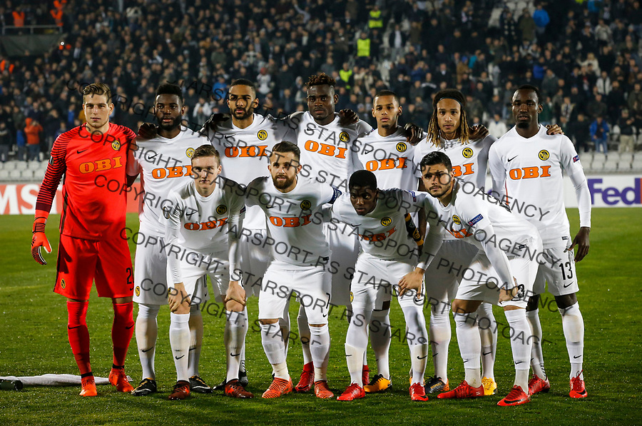 BELGRADE, SERBIA - NOVEMBER 23: Players of the BSC Young Boys pose for a photo prior to the UEFA Europa League group B match between Partizan and BSC Young Boys at Stadium Partizan on November 23, 2017 in Belgrade, Serbia. (Photo by Srdjan Stevanovic/Getty Images)