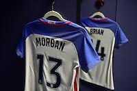 Atlanta, GA - Sunday Sept. 18, 2016: Locker room, Alex Morgan, Morgan Brian prior to a international friendly match between United States (USA) and Netherlands (NED) at Georgia Dome.