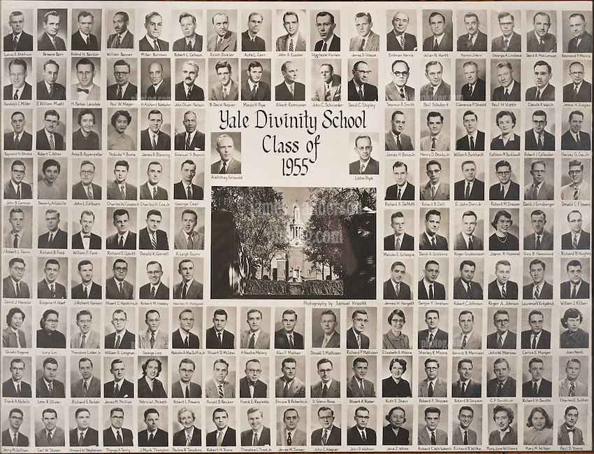 1955 Yale Divinity School Senior Portrait Class Group Photograph