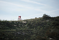 Jurgen Van den Broeck (BEL/Katusha) coming down the Coll de Rates (Alicante, Spain)<br /> <br /> January 2016 Training Camps
