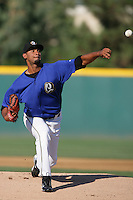 August 30 2009: Manuel Flores of the Rancho Cucamonga Quakes during game against the Stockton Ports at The Epicenter in Rancho Cucamonga,CA.  Photo by Larry Goren/Four Seam Images