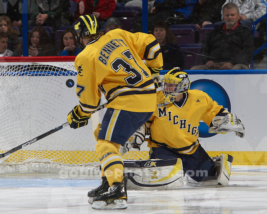 University of Michigan men's ice hockey 2-1 victory over Colorado College, to advance to the NCAA Frozen Four, at Scottrade Center in St. Louis, MO, on March 26, 2011.