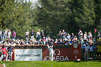 Paul Dunne (IRL) in action on the 6th hole during second round at the Omega European Masters, Golf Club Crans-sur-Sierre, Crans-Montana, Valais, Switzerland. 30/08/19.<br /> Picture Stefano DiMaria / Golffile.ie<br /> <br /> All photo usage must carry mandatory copyright credit (© Golffile | Stefano DiMaria)