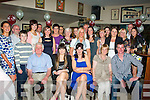 3-OH BIRTHDAY: Michelle Carmody, Manor,Tralee (seated centre)celebrated her 30th birthday last Saturday night in Kirby's Brogue,Tralee, surrounded by many friends and family.