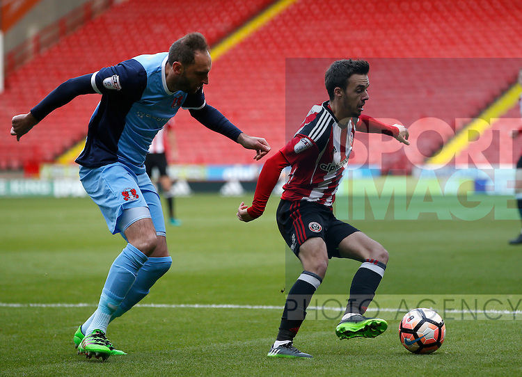 Stefan Scougall of Sheffield Utd during the Emirates FA Cup Round One match at Bramall Lane Stadium, Sheffield. Picture date: November 6th, 2016. Pic Simon Bellis/Sportimage