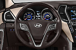 Car pictures of steering wheel view of a 2015 Hyundai Grand Santa Fe Executive 5 Door SUV