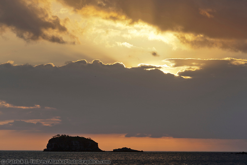 Sunset off Isabella Island, Galapagos Islands, Ecuador.