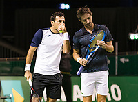 Rotterdam, The Netherlands, 14 Februari 2019, ABNAMRO World Tennis Tournament, Ahoy, doubles, Ivan Dodig (CRO) Edouard Roger-Vasselin (FRA) (R),<br /> Photo: www.tennisimages.com/Henk Koster