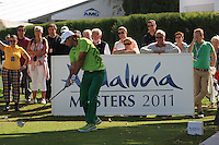 Johan Edfors (SWE) during the 1st day at the  Andalucía Masters at Club de Golf Valderrama, Sotogrande, Spain. .Picture Fran Caffrey www.golffile.ie
